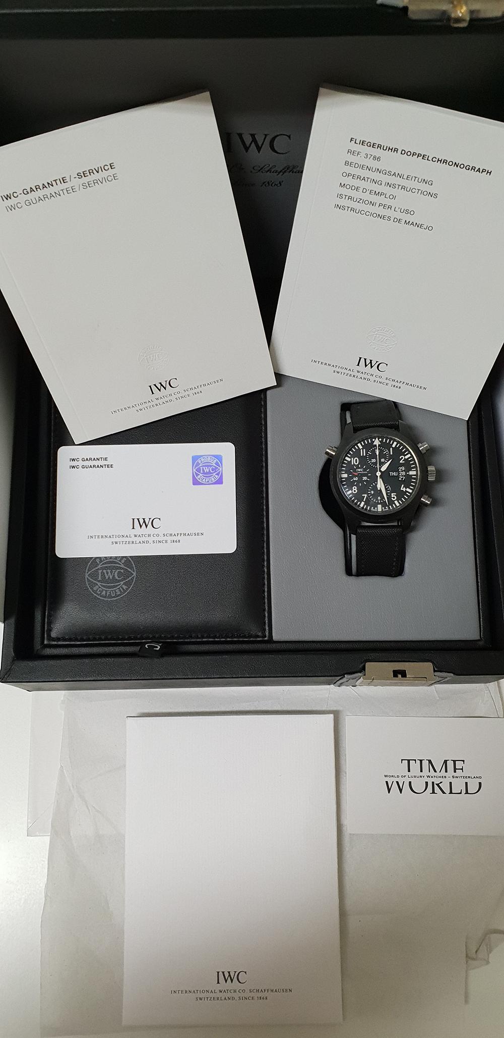 Iwc Pilot Doppelchronograph Fliegeruhr Iw378601 Timeworld