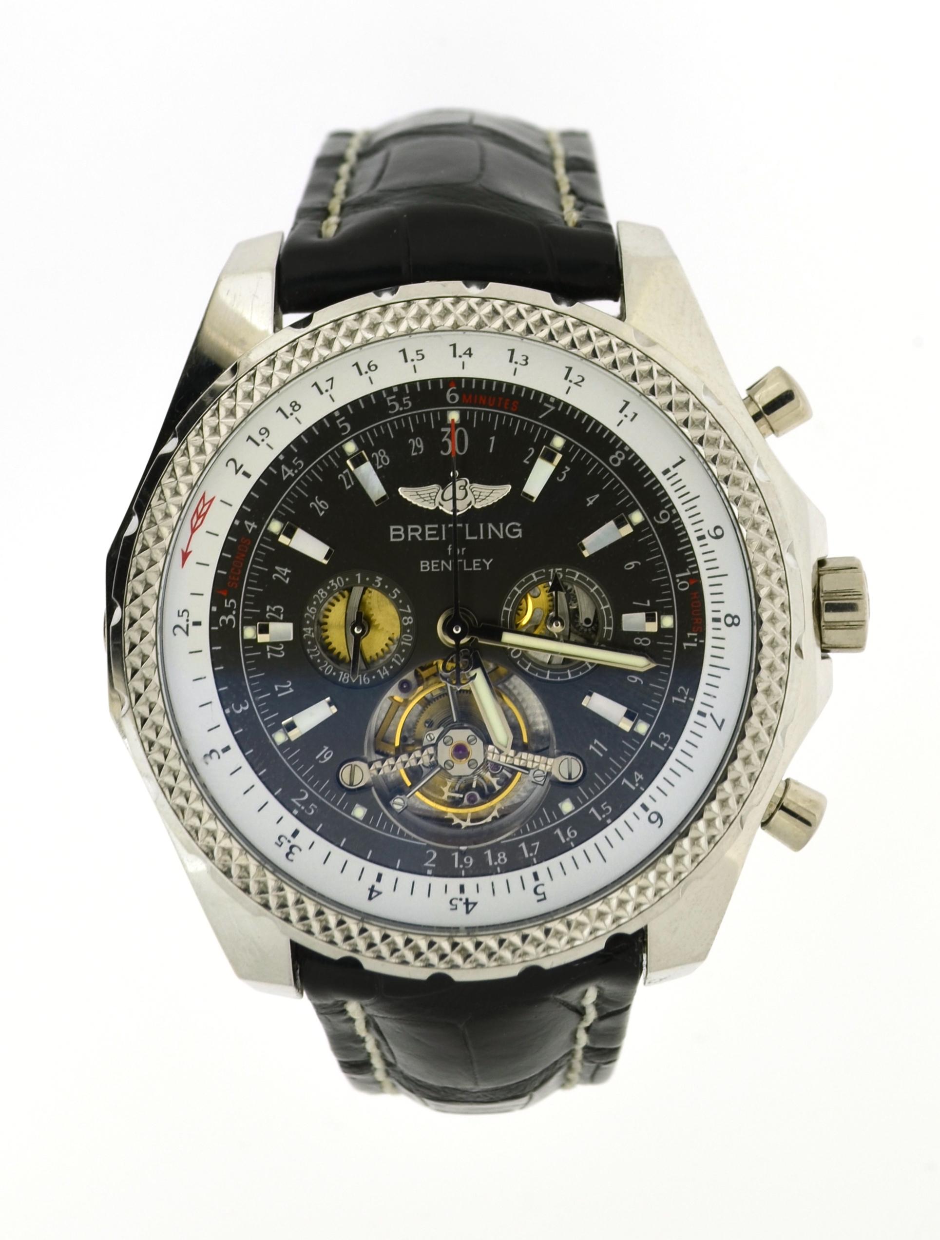 Breitling bentley mulliner tourbillon black dial